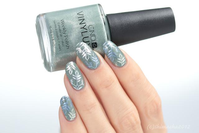 Snow flake Nails, nail stamping, スタンピングネイル, ネイルスタンプ