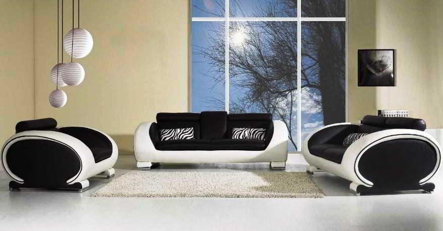Model Sofa Ruang Tamu Warna Hitam