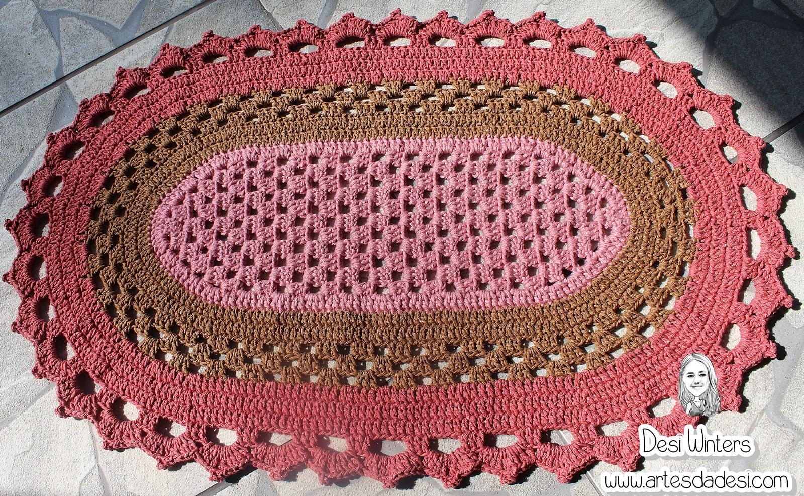 Tapete Oval Simples De Croch  -> Tapete De Croche Oval Simples Passo A Passo