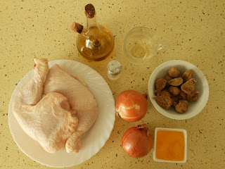 ingredientes pollo con higos y miel