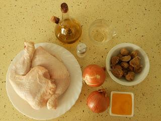 ingredientes pollo con higos y miel