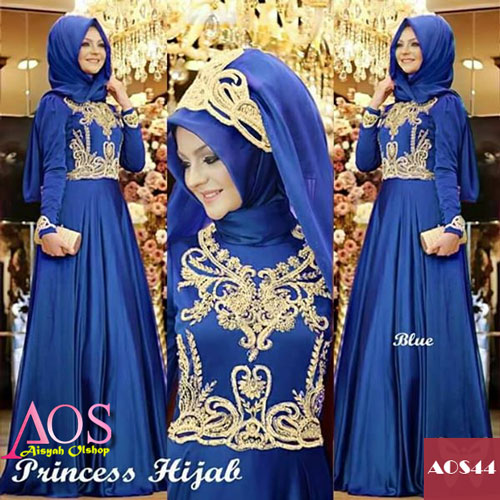 Princess Hijab Blue - AOS44 | Aisyah Olshop