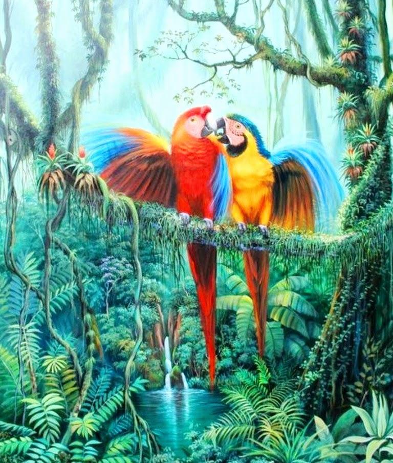 Cuadros modernos pinturas y dibujos oleos de paisajes - Cuadros pintados con spray ...