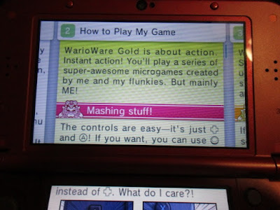 WarioWare Gold virtual digital instruction manual how to play my game Wario microgames