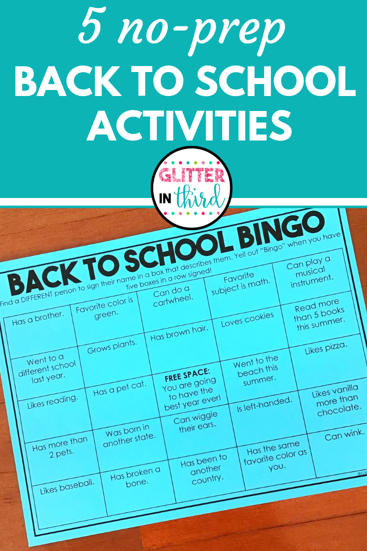 Simple and Easy Activities to Welcome Kids Back to School