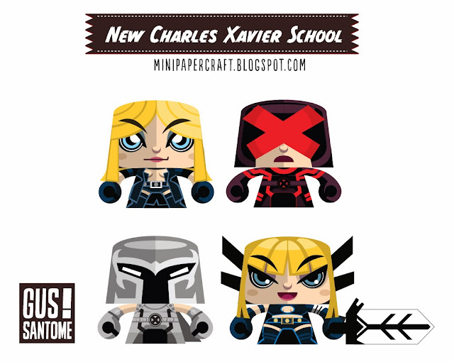 New Charles Xavier School for Mutants Paper Toys