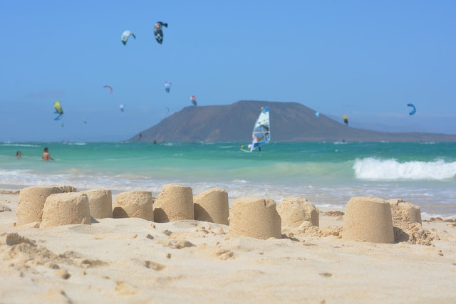 corralejo fuerteventura beach sea blue sky