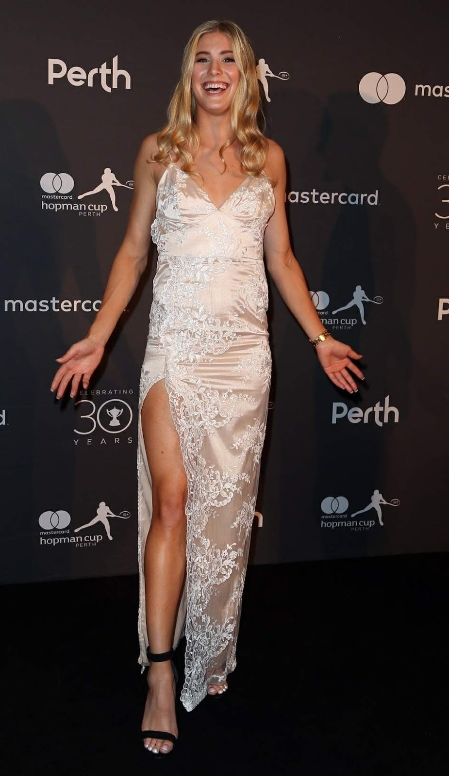 Eugenie Bouchard Posing at Hopman Cup New Years Eve Players Ball
