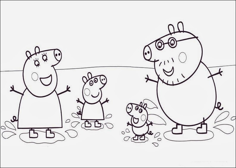 Fun Coloring Pages Peppa Pig Coloring Pages