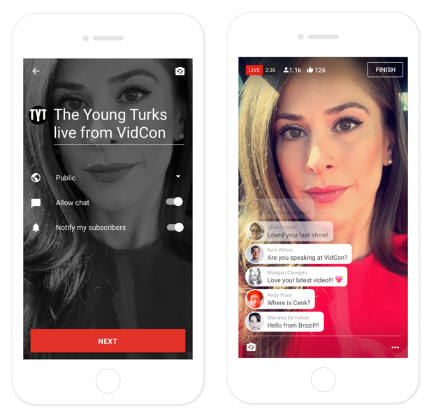 YouTube has announced that it is bringing Live Streaming video right from its mobile apps on iOS and Android. YouTube Live Streaming is expected to become available soon to public.