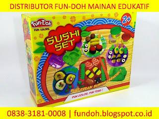 Fun-Doh Sushi Set, fun doh indonesia, fun doh surabaya, distributor fun doh surabaya, grosir fun doh surabaya, jual fun doh lengkap, mainan anak edukatif, mainan lilin fun doh, mainan anak perempuan