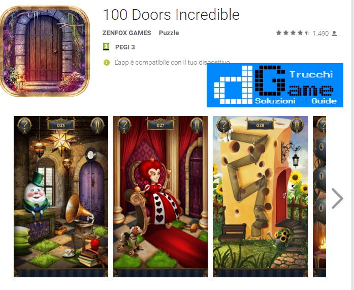 Soluzioni 100 doors incredible livello 81 trucchi e for Door 90 on 100 doors incredible