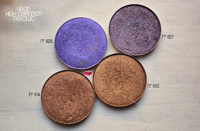 High Definition Eyeshadow 827, 828, 832, 514 di HEan Cosmetics