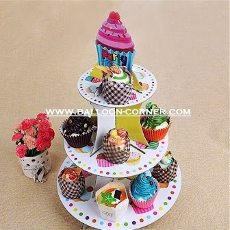 3 Tier Cake Stand Motif Cup Cake (01)