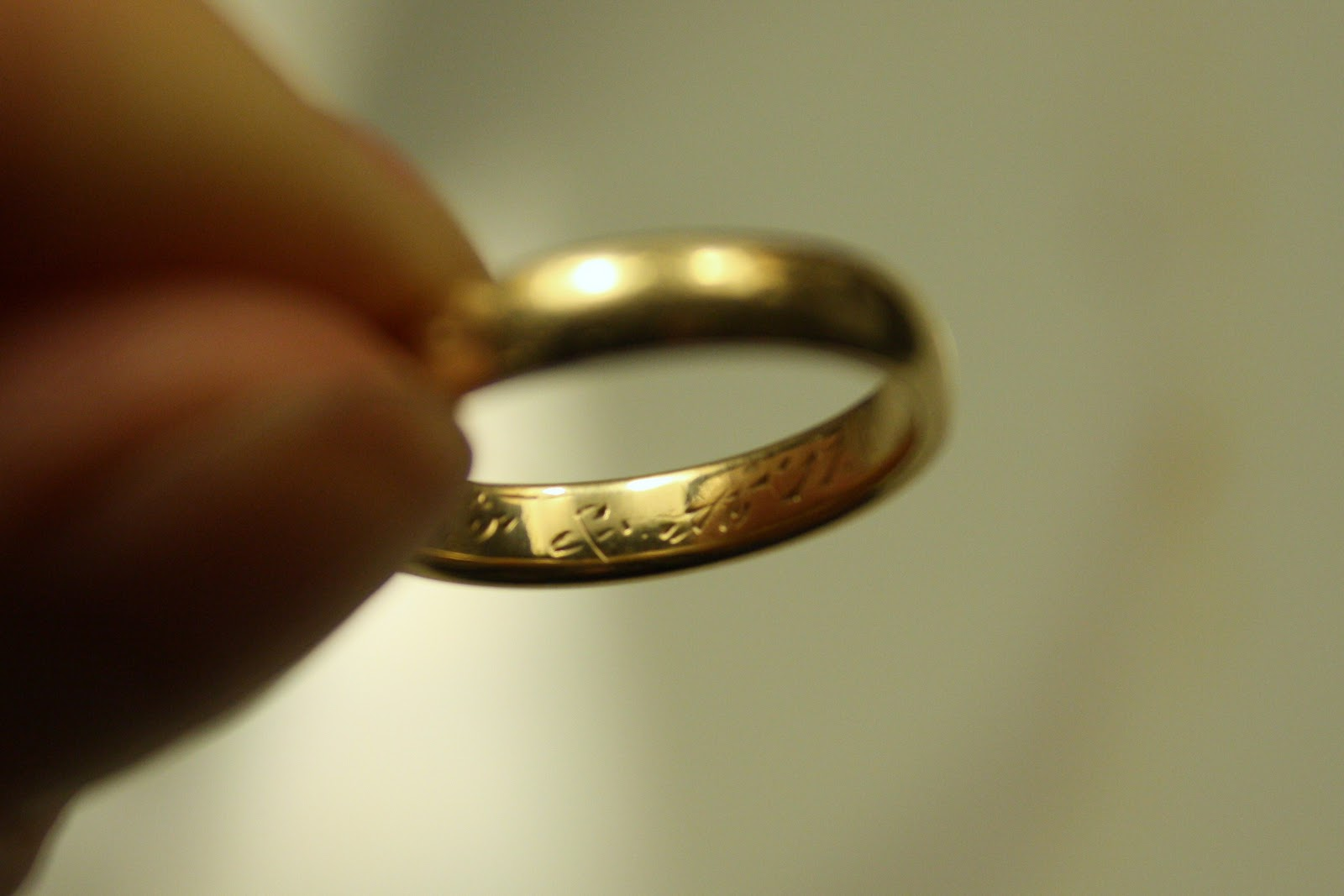 A 100 Year Old Wedding Ring