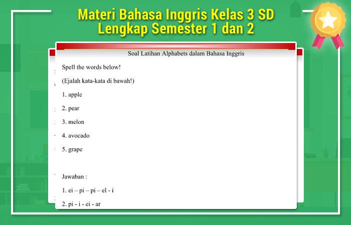 Materi Bahasa Inggris