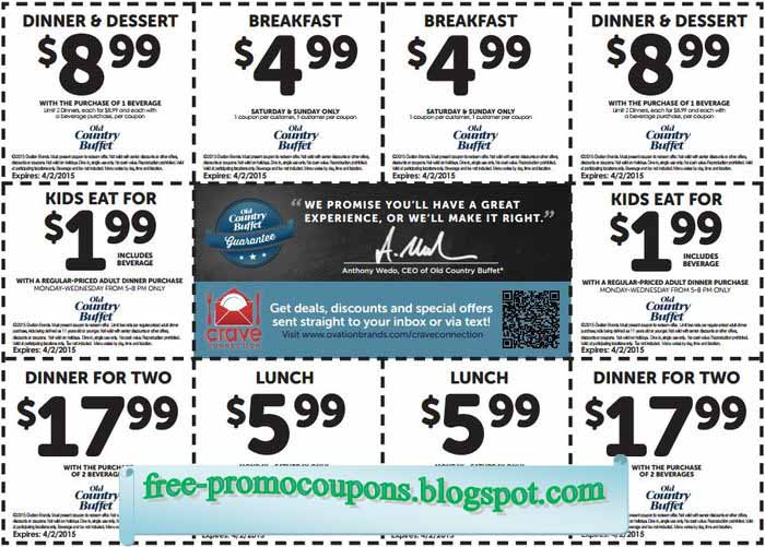 image regarding Coupon for Golden Corral Buffet Printable identified as Golden corral discount coupons 2019