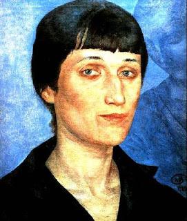 """Кузьма Петров-Водкин  """"Потрет Ахматовой"""",  1922 г."""