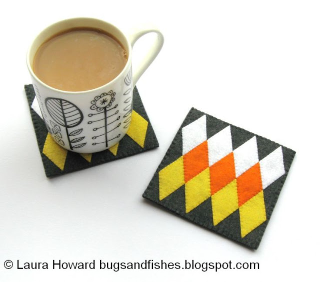 Geometric coasters for Halloween