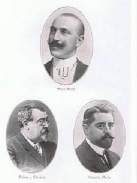 Los ajedrecistas Rinck, Tolosa y Marín