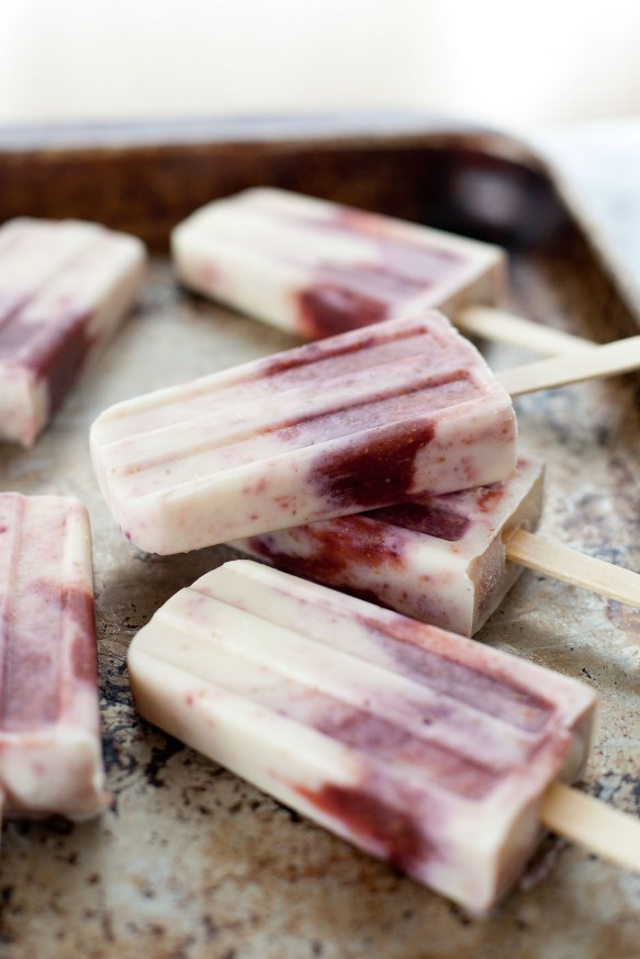 Fig and goat cheese popsicles - living the Torah Portions | Land of Honey