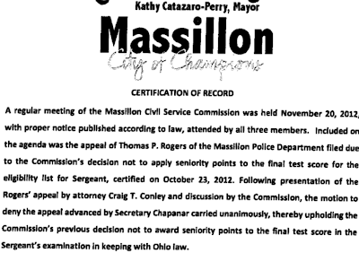 DOES JUDGE HAAS' DECISION IN ROGERS V. MASSILLON CIVIL