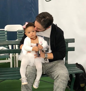 Alexis Ohanian and baby Olympia