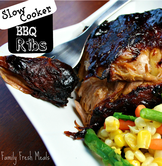 Crockpot Slow Cooker BBQ Ribs - Family Fresh Meals