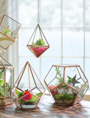 Green Pear Diaries, diseño, macetas originales, terrarios geométricos