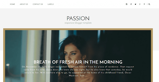 Passion Blogger Template