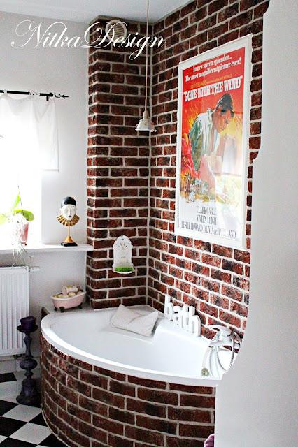 łazienka Z Czerwoną Cegłą