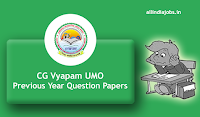 CG Vyapam UMO Previous Year Question Papers