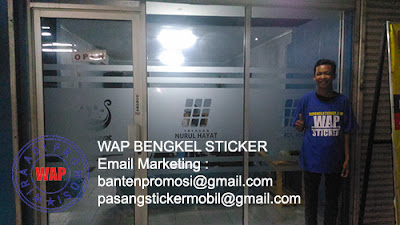 Pesan Sticker Sandblast Murah
