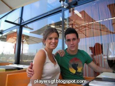 José María Callejón and his girlfriend Marta