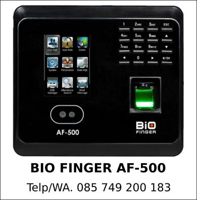 Penyedia Mesin Absensi Bio Finger AF-500 Asli Berkualitas