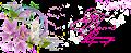 Открытка с самодельными цветами