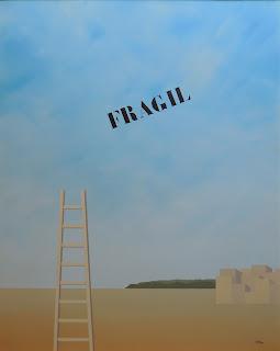 Francesc Calvet obra de arte surrealista paisaje fragil