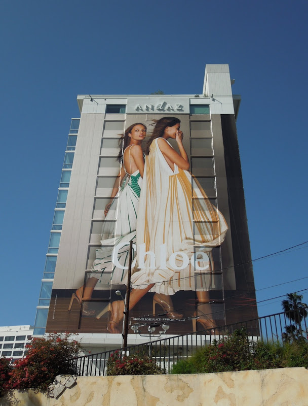 Chloe fashion billboard Sunset Strip