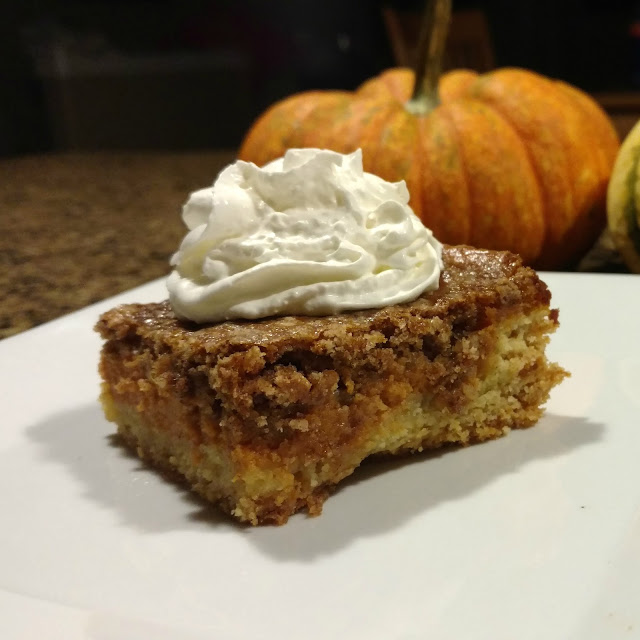 Step aside pumpkin pie!  Pumpkin cake is taking your spot at Thanksgiving this year!