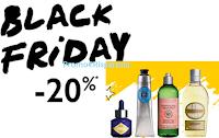 Logo Black Friday L'Occitane : sconto del 20% su tutto il sito