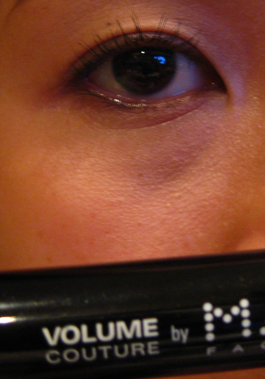 f8d7bd1e729 Eyelash after application of Max Factor's Waterproof Volume Couture Mascara  in Black Color (Gives me length, volume and holds the curl ALL DAY!)
