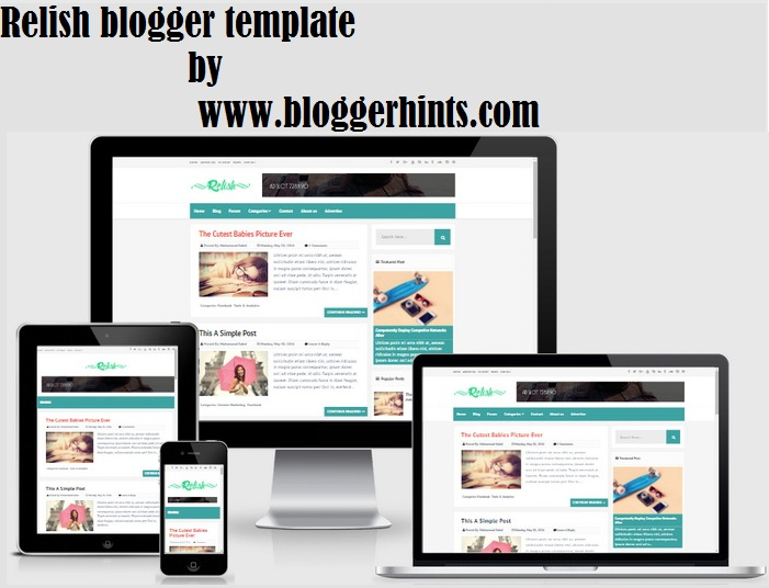relish blogger template free download
