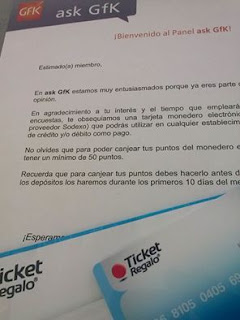 tarjeta ticket regalo ask gfk