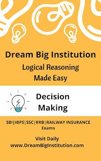 Logical Reasoning Decision Making Practice Sets- Dream Big Institution