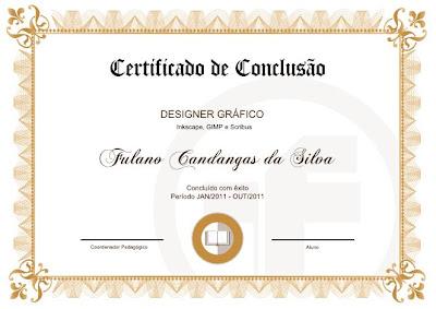 O Espaço Do Software Livre Certificado Modelo Clássico 09