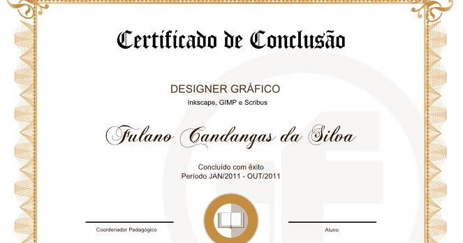 Certificado Modelo Clássico (09) - TutorFree