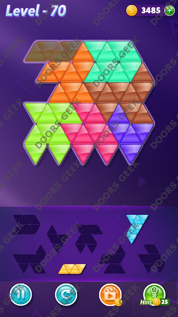 Block! Triangle Puzzle 7 Mania Level 70 Solution, Cheats, Walkthrough for Android, iPhone, iPad and iPod