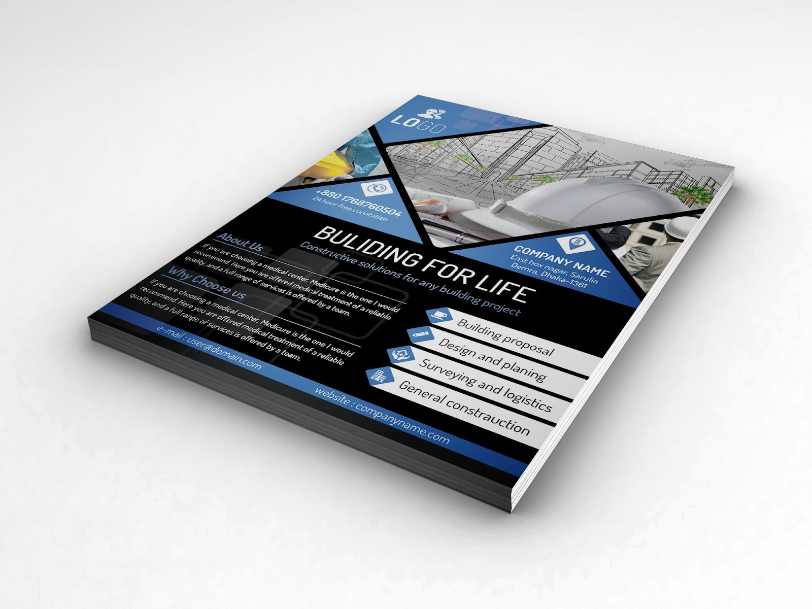 10 high quality free photoshop psd a4 flyerposter mockups graphic free photoshop psd flyer poster mockup download now reheart Choice Image