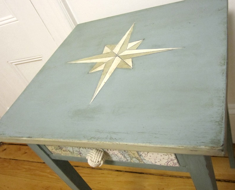 table makeover nautical