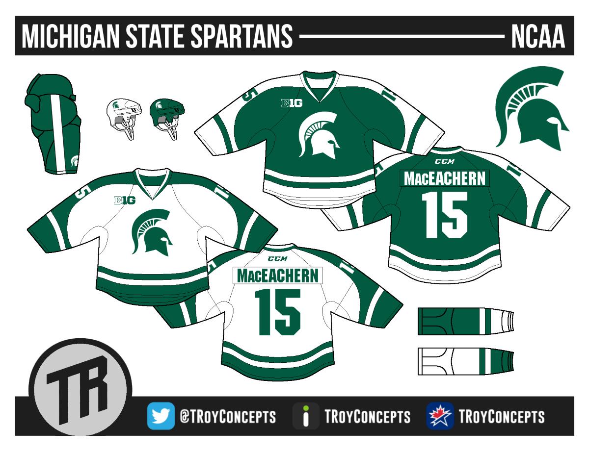 Michigan State Hockey Locker Room